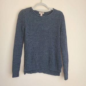 Forever 21   Dark Teal Blue Open Knit Sweater, XS